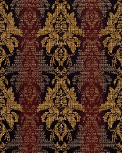 Hochwertige Textil Tapeten : 3D Barock-Tapete Damask EDEM 770-36 Luxus Tapete hochwertige 3D Brokat